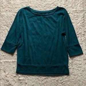 LOFT Forest Green Short Sleeve Shirt